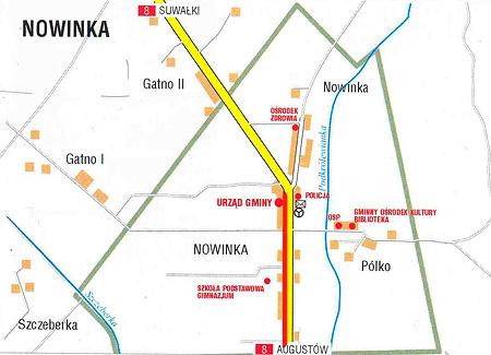 Ścieżka rowerowa w Nowince