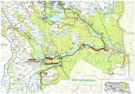 Mapka ścieżki rowerowe