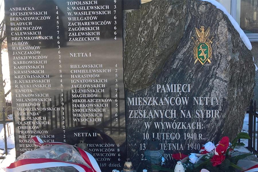 Rocznica wywózki mieszkańców Netty na Syberię