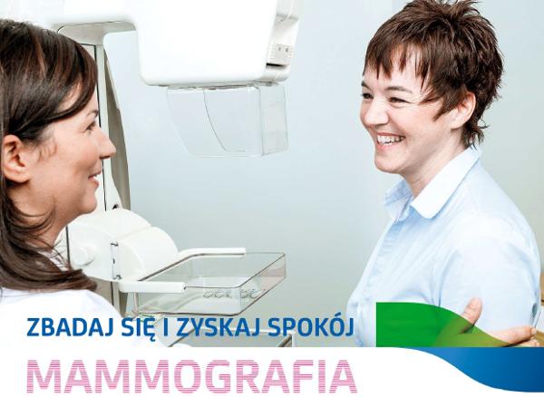 Bezpłatne badania mammograficzne.