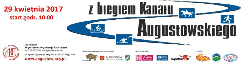 baner AOT 2017 - z biegiem Kanału Augustowskiego