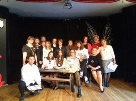 fot.4 – Mocna reprezentacja ZSO w konkursie teatralnym