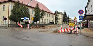 Ulica 3 Maja – zamknięte skrzyżowanie z ulicą Hożą
