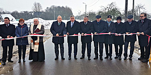 Otwarcie mostu na rzece Bargłówka