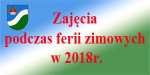 Zajęcia podczas ferii zimowych w 2018r.