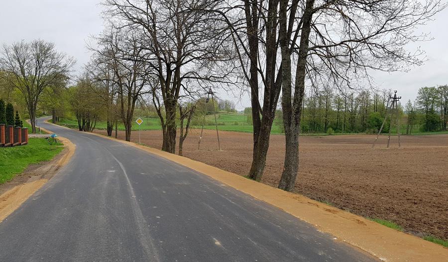 Przebudowano drogę Grabowo – Janówka