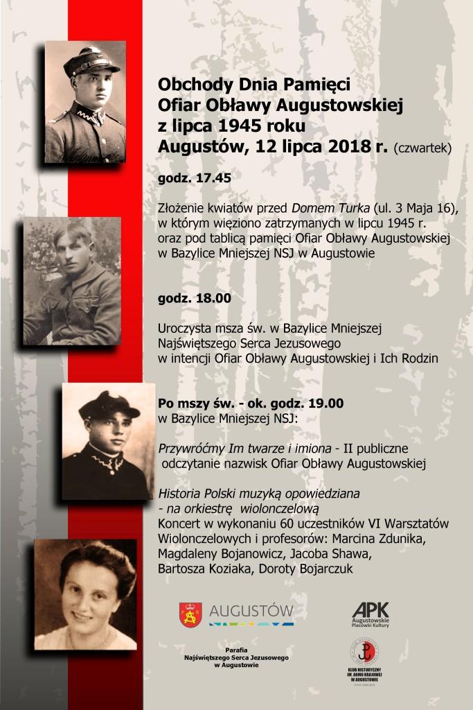 Obchody 73. rocznicy Obławy Augustowskiej w Augustowie i Gibach