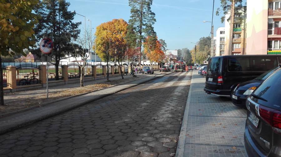 Trwają prace na powiatowych ulicach w Augustowie - fot.1