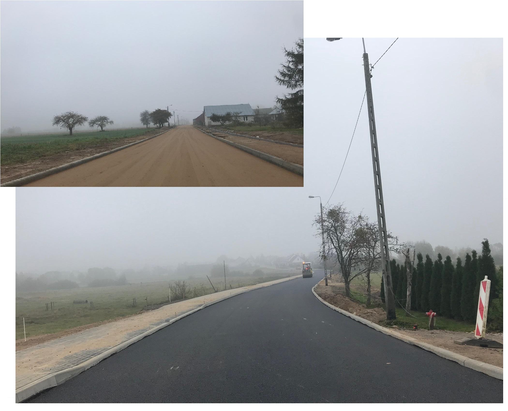Roboty drogowe w Powiecie Augustowskim - fot. 2 ul. Saperów Lipsk