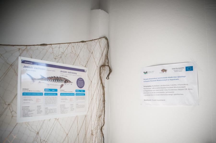 """Po realizacji operacji pt. """"Rozwój infrastruktury i promowanie dziedzictwa rybackiego w Zespole Placówek Młodzieżowych w Augustowie"""""""