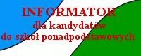 Informator dla kandydatów do szkół ponadpodstawowych