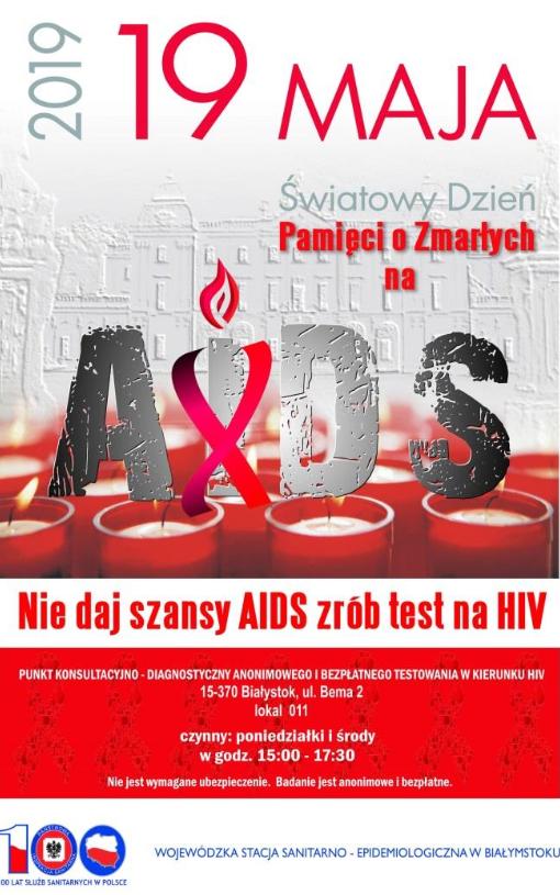 Światowy Dzień Pamięci o Zmarłych na AIDS - plakat