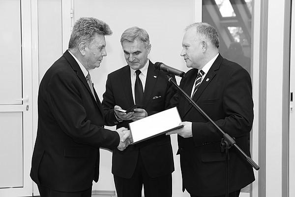 Wręczenie Odznaki Honorowej Województwa Podlaskiego dla Eugeniusza Franciszka Simsona w dn. 29 grudnia 2016 r.