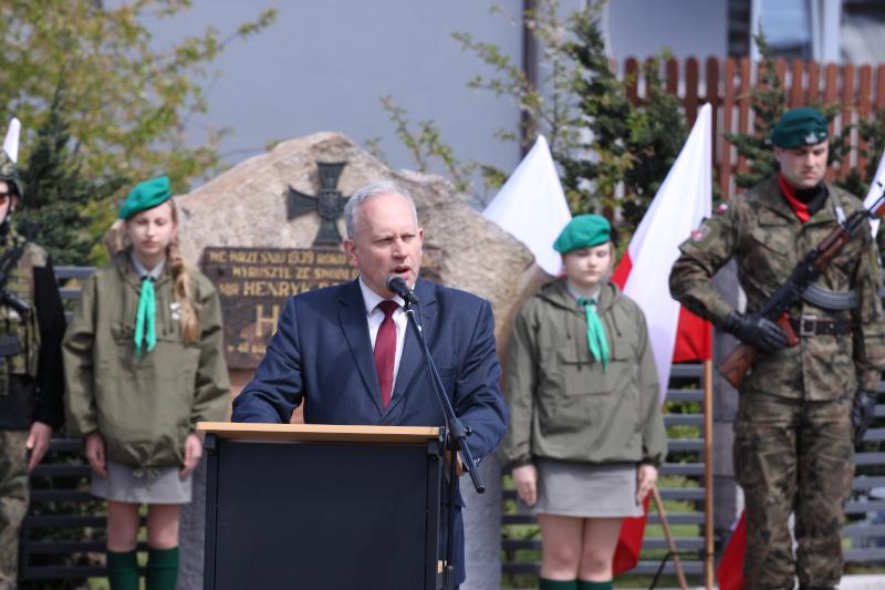 Obchody Narodowego Dnia Zwycięstwa- Przemówienie  Jarosława Szlaszyńskiego