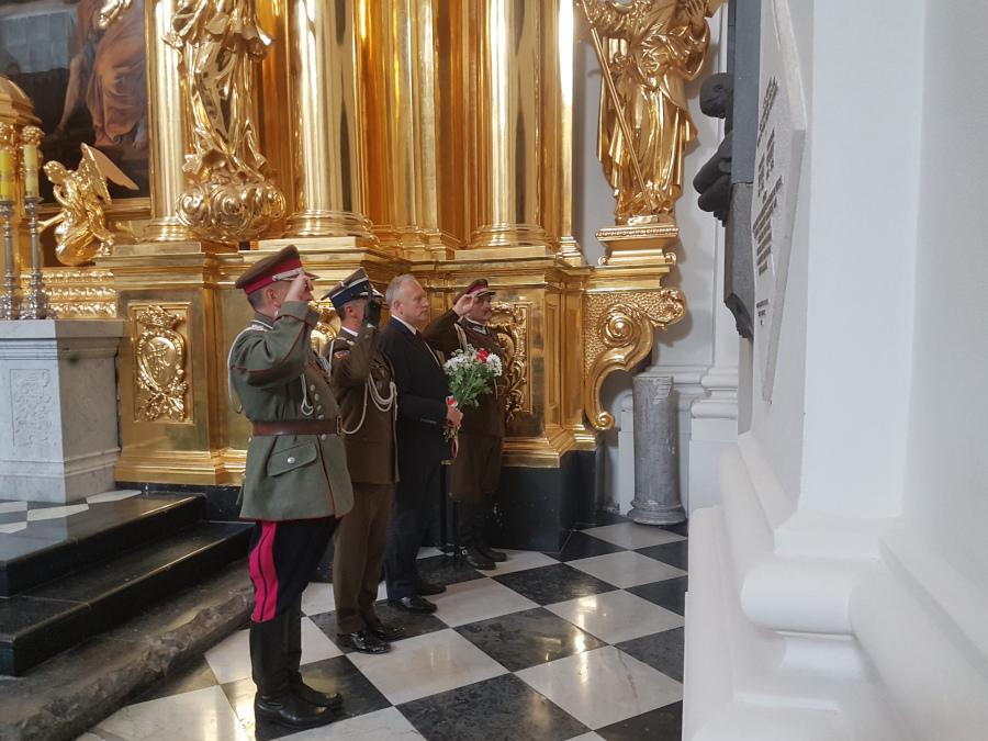 Uczczenie płk. B. Mościckiego w rocznicę Bitwy pod Krechowcami