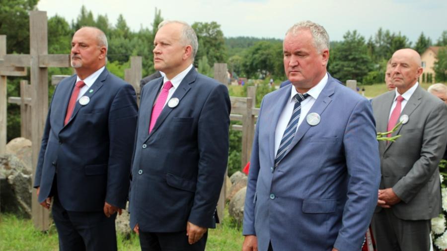Delegacja Powiatu Augustowskiego podczas obchodów 74. Rocznicy Obławy Augustowskiej