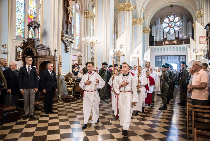 Rozpoczęcie Mszy Świętej podczas obchodów 100. Rocznicy Odzyskania Niepodległości przez Ziemię Augustowską