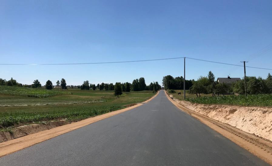 Droga powiatowa na terenie gminy Bargłów Kościelny