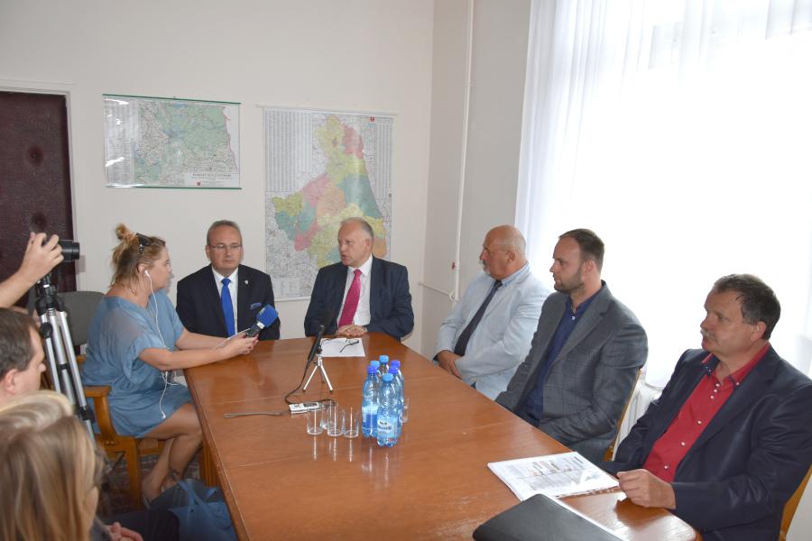 Konferencja prasowa w Starostwie Powiatowym w Augustowie – 29.08.2019 r.