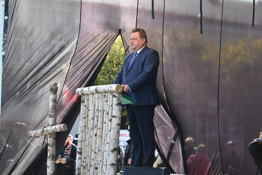 Przemówienie Ministra Jarosława Zielińskiego na Rynku Zygmunta Augusta