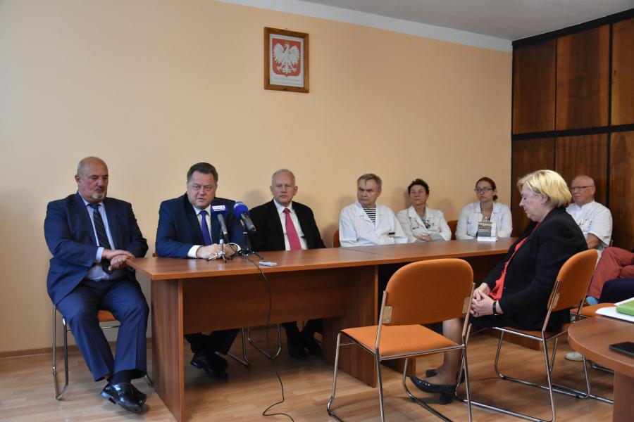 Konferencja prasowa w SP ZOZ w Augustowie w dn. 7 października 2019 r.