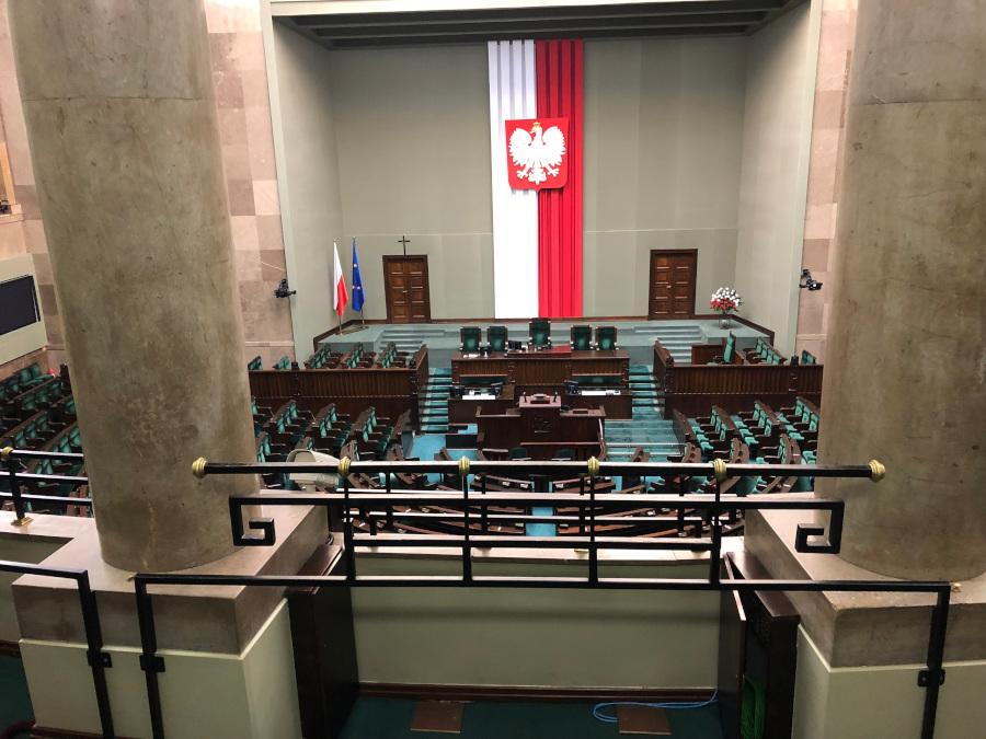 Wyjazd młodzieży z I Liceum  Ogólnokształcącego do Sejmu RP