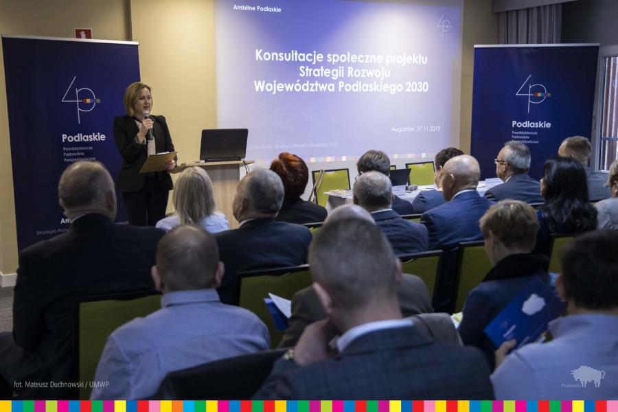 """Spotkanie konsultacyjne dotyczące """"Strategii Rozwoju Województwa Podlaskiego 2030"""""""