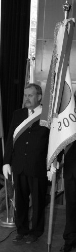 Uroczystość przekazania sztandaru Powiatu Augustowskiego w dniu 6 czerwca 2008 r.- śp. Dariusz Bednarczyk