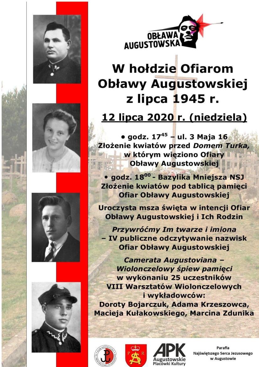 Szczegółowe informacje na temat obchodów 75. rocznica Obławy Augustowskiej w Augustowie