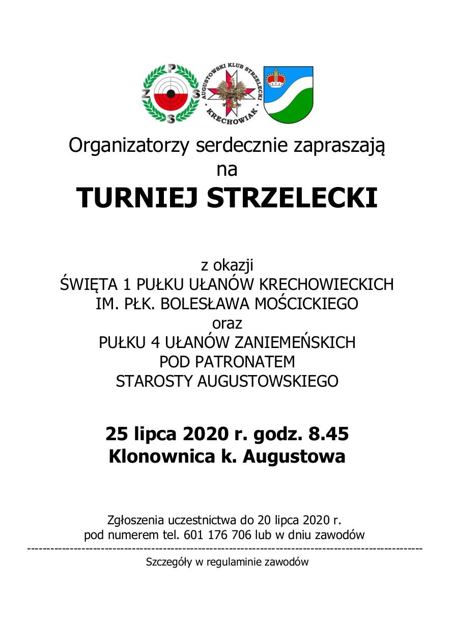 Zaproszenie na turniej strzelecki