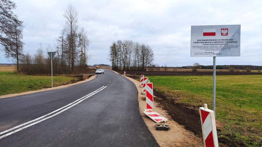 Rozbudowa drogi powiatowej nr 1226B Dębowo – Jagłowo od km 0+000 do km 1+350 wraz z rozbiórką istniejącego i budową nowego mostu na rz. Biebrza – roboty w trakcie.