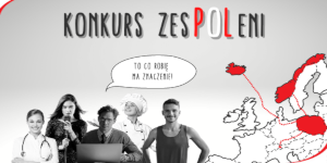 """Podium dla I LO w konkursie """"zespoleni"""""""